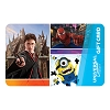 Universal Collectible Gift Card - Harry Potter, Spider-Man and Minions