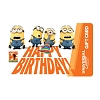Universal Collectible Gift Card - Minions - Happy Birthday