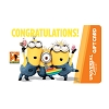 Universal Collectible Gift Card - Minions - Congratulations
