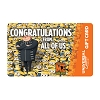 Universal Collectible Gift Card - Gru - Congratulations from all of us