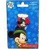 Disney Gift Card & Pin Happy Holidays 2016 Christmas Mittens - Mickey