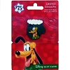 Disney Gift Card & Pin Happy Holidays 2016 Christmas Mittens - Pluto
