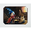 Disney Artist Print - Mickey & Broom Playing Chess by Brian Blackmore