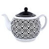 Disney Teapot - Mickey Mouse Icon - Black and White
