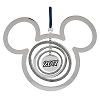 Disney Christmas Ornament - Silver Metal Mickey Ears Spinner - 2017