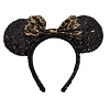 Disney Headband Hat - Sequin Mickey Mouse Ears - Black