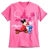 Disney ADULT Shirt - 2017 Sorcerer Mickey Mouse Tee for Adults - Pink