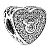 Disney PANDORA Charm - Mickey & Minnie Mouse Heart Shaped