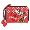 Disney Wallet - Minnie Mouse Wallet - Red Glitter