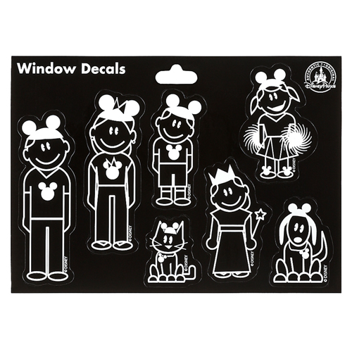 Your Wdw Store Disney Window Decal Family With Ear Hats