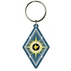 Fantastic Beast Diamond Shape Soft Touch PVC Key Ring
