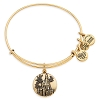 Disney Alex and Ani Charm Bracelet - Castle and Mickey Bangle - Gold