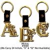 Disney Initial Keyring - Mickey Mouse - Brass