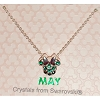 Disney Birthstone Necklace - Minnie Mouse