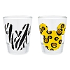 Disney Mini Glass Set - Mickey Icon Animal Prints - Cheetah and Zebra