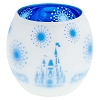 Disney Votive Candle Holder - Frosted Glass Castle with Blue Interior