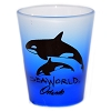 SeaWorld - Shot Glass - Frosted Blue - SeaWorld Logo
