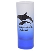SeaWorld - Tall Shooter Shot Glass - Frosted Blue - SeaWorld Logo