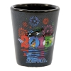 SeaWorld Shot Glass - 2015 Shamu  Fireworks Logo