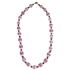 Disney EPCOT Recycled Paper Choker Necklace - Pink and White Beads