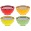 Disney Plastic Bowl Set  - Citrus Mickey Icon Bowls - Set of 4