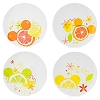Disney Plastic Plates Set - Citrus Mickey Icon Plates - Set of 4