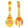 Disney Plastic Serving Utensil Set - Citrus Mickey Icon Fork & Spoon