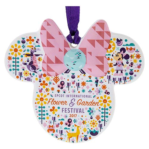 Your Wdw Store Disney Disc Ornament 2017 Epcot Flower And Garden Minnie Icon Logo