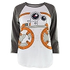 Disney Women's Shirt - Star Wars - The Force Awakens - BB-8 Baseball Tee