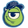 Disney Automotive Car Magnet - Monsters University - Mike Wazowski