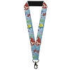 Disney Designer Lanyard - The Little Mermaid - Ariel Sebastian Flounder