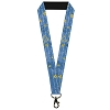Disney Designer Lanyard - Beauty & the Beast Story Script