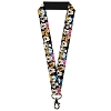 Disney Designer Lanyard - Classic Disney Character Faces Black