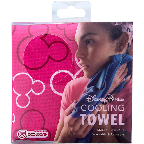 Your Wdw Store Disney Cooling Towel Pink Mickey Icon