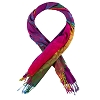 Disney Fashion Scarf - Mickey Icon Ombre Rainbow with Fringe