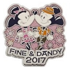Disney Dapper Day Pin - 2017 Fine & Dandy - Mickey & Minnie