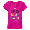 Disney Girls Tee Shirt - Disney Princess Dresses