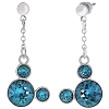 Disney Earrings - Mickey Drop Icons Swarovski Crystals - Turquoise