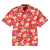 Disney ADULT Shirt - Tommy Bahama - Mickey Mouse Woven Floral - Red
