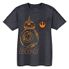 Disney Child Shirt - BB-8 Heathered Tee - Gray