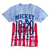 Disney Child Shirt - Mickey Mouse American Tie-Dye Tee