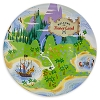 Disney Glass Tableware - Peter Pan Never Land Map Dessert Plate