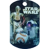 Disney Engraved ID Tag - Star Wars - R2-D2 C-3PO BB-8