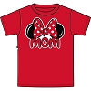 Disney Adult Ladies Shirt - Minnie Ears Red - Mom