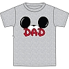 Disney Adult Shirt - Mickey Ears Grey - Dad