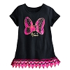 Disney Child Shirt - Minnie Mouse Bow Lace-Trimmed Tee for Girls