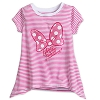 Disney Child Shirt - Minnie Mouse Bow Striped Fashion Tee for Girls