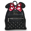 Disney Loungefly Mini Backpack - Minnie Bow Quilted with Mickey Icons