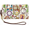 Disney Dooney & Bourke - Beauty & the Beast Wallet with Wrist Strap