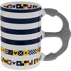 Disney Coffee Cup Mug - Nautical Striped Mickey Icon with Flags
